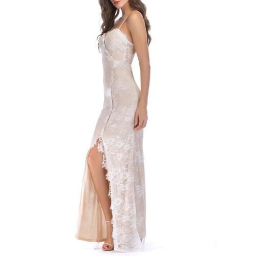 Sling Lace Stitching Evening Dress