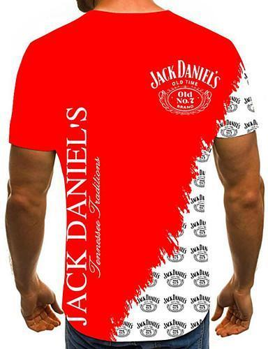 Men Street Chic Plus Size Color Block3D Pleated Round Neck T shirt