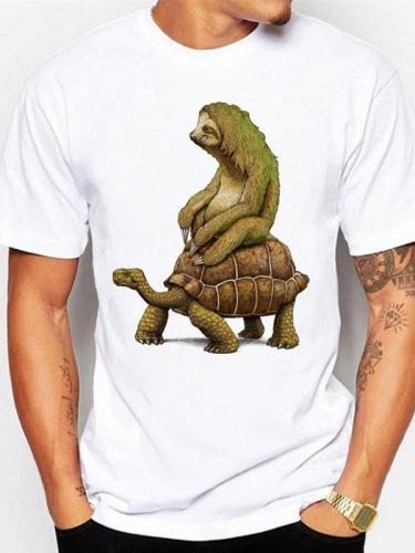 Mens Round Neck Printed Sweat Shirt