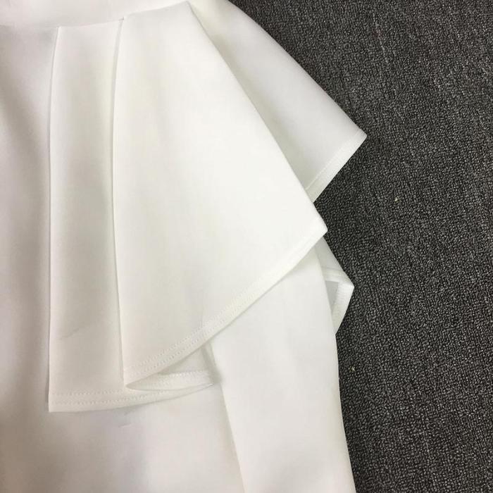 Irregular  Wrap Mini Evening Dress