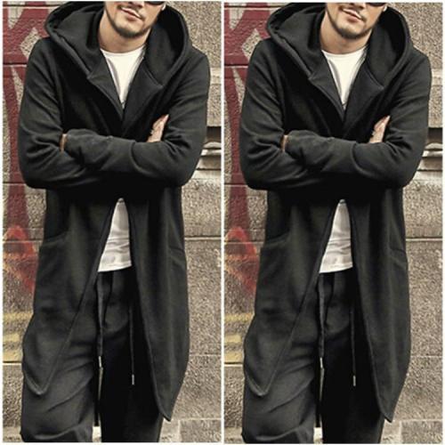 Fashion Slim Fit Plain One Button Long Coat
