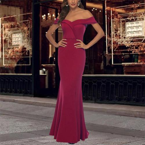 New Sexy V-neck Split Evening Maxi Dress