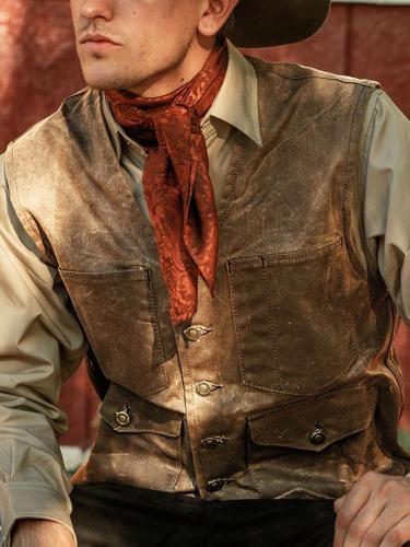 Vintage Patch Pocket Single-Breasted Vest