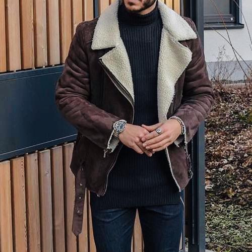 Fashion handsome locomotive suede jacket