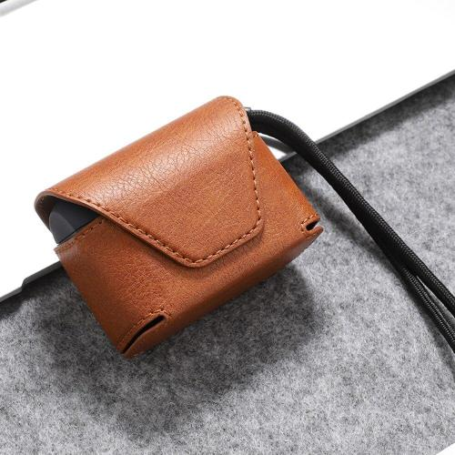 Leather AirPods Pro Case Shock Proof Cover TWS Wireless Bluetooth Earphones Case