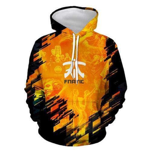 3D FNATIC Team Hoodie Casual Hooded Sweatshirt Jacket Coat