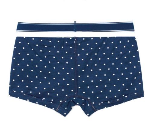 Fashionable Dot Stripe Printing Medium Waist Underpants