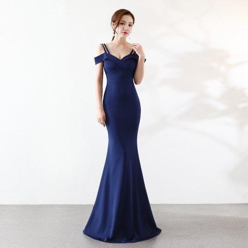fashion  Party evening Dresses New Slim fit Mermaid Prom evening gown elegant Long  Evening Dress Robe De Soiree