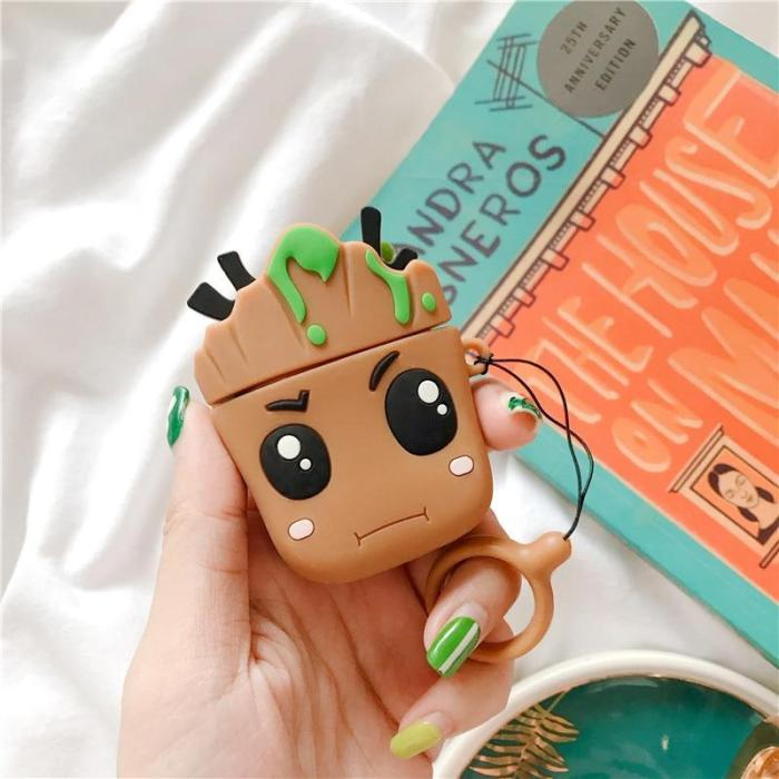 Groot Trees Baby 3D Silicone AirPod Case Cover with Ring