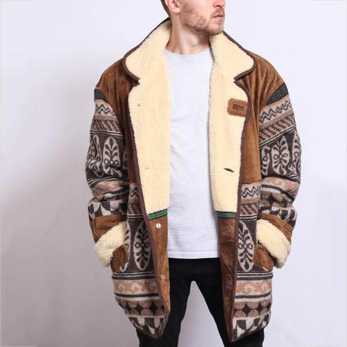 Men's Vintage Printed Jacket