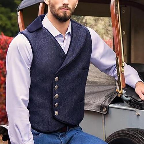 Classic Men's Single Breasted Vest