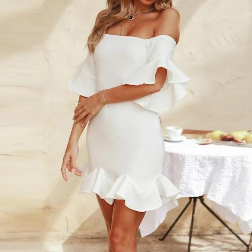 Sexy Slim Fit Trumpet Sleeve Dress