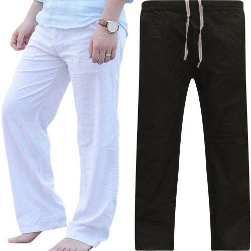 Fashion Wide Leg Plain Elastic Waist Pants