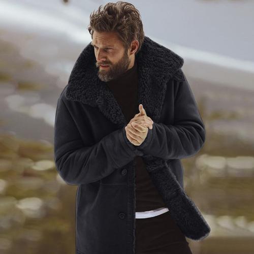 Casual Lapel Collar Plain Thicken Keep Coat