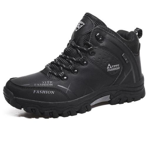 Men Fur Boots Plus Size 39-47 Winter Fur Snow Men Boots Autumn Rubber Sole Men Ankle Boots Men Shoes Footwear