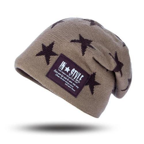 Men Plush Warm Autumn Winter Hat Fashion Hip-hop Beanie