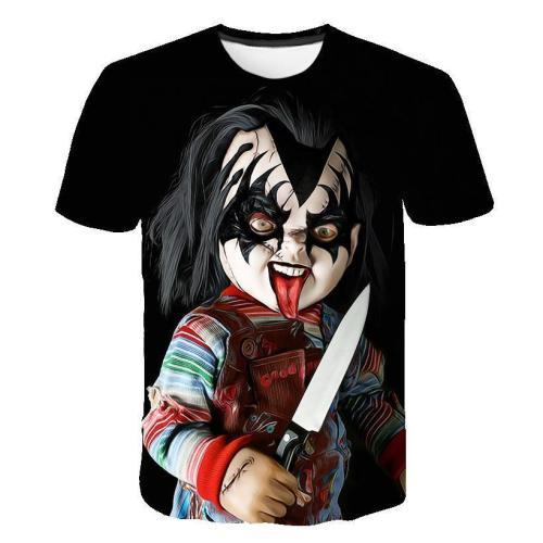 3D Child's Play Chucky Funny T-shirt Tee Tops