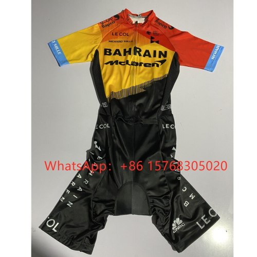 pro team 2020 BAHRAIN new summer skinsuit men traje triathon cycling short sleeve mtb roupa ciclismo bike sports running suit