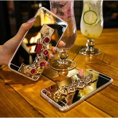 Bling Bracelet Crystal Tassel Women Case For iPhone XR XS MAX X