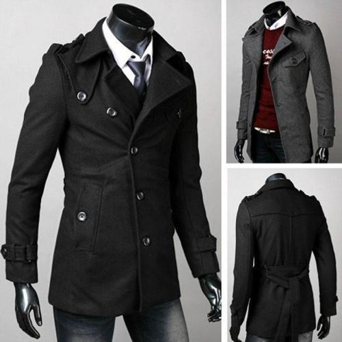 Classic Plain Button Coat