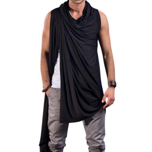 Men's simple vest pile collar cardigan