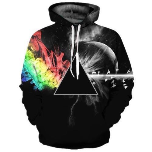 Sankill Unisex Realistic 3D Digital Pullover Sweatshirt Hoodie