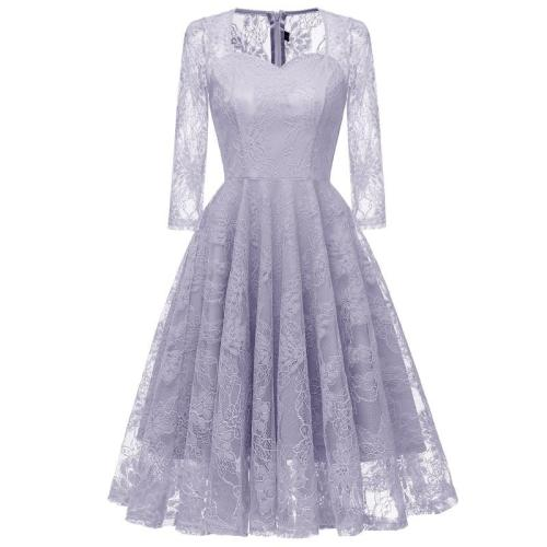 robe de soiree fashion 7 minutes of sleeve Lace Evening Dress elegant Party Dresses sexy evening gown formal dress