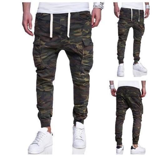 Fashion Elastic Waist Camouflage Packets Pants