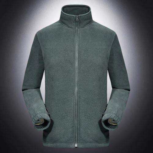 Solid Plain Fleece Warm Jacket