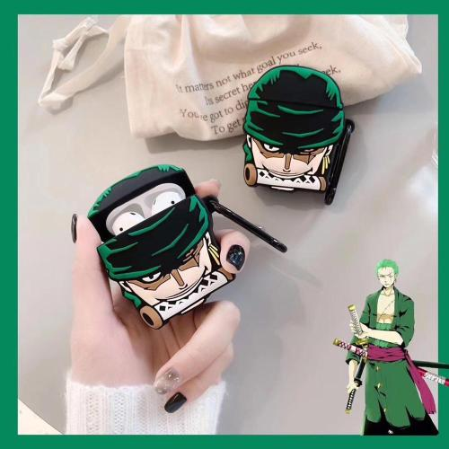 One Piece Roronoa Zoro AirPods Case Silicone Shockproof Cover