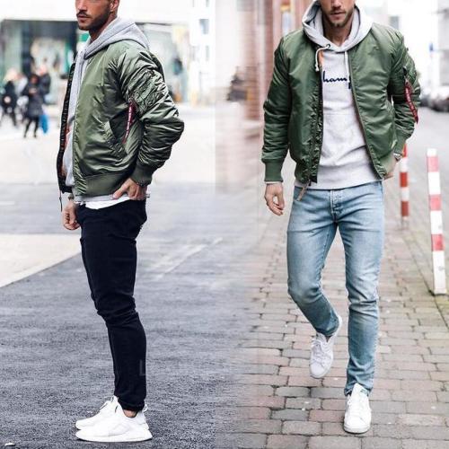 Leisure Motion Standing Collar Warm Cotton Jacket