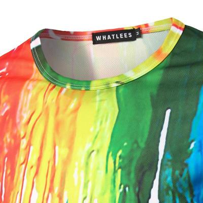 3D Splash Paint Round Neck Long Sleeve T-shirt