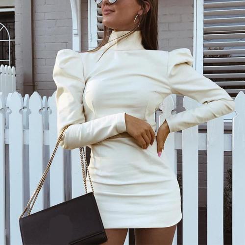 Fashion Lady White Vintage Dress