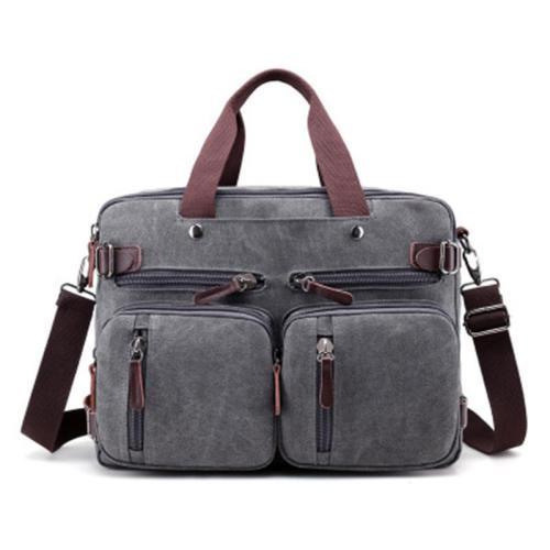 New retro fashion trend multi-purpose canvas bag shoulder portable men's backpack travel bag