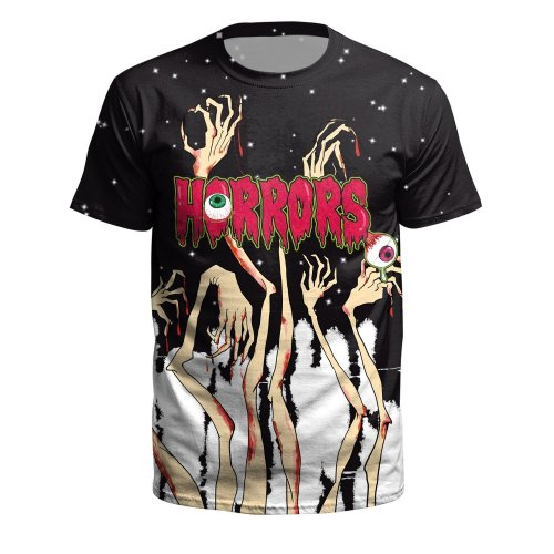 Hiphop Printed Round Neck Pullover Short Sleeve T-shirt