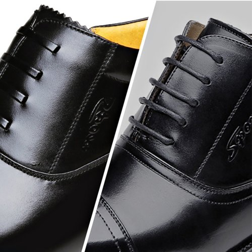 Men's fur integrated high help business leather shoes