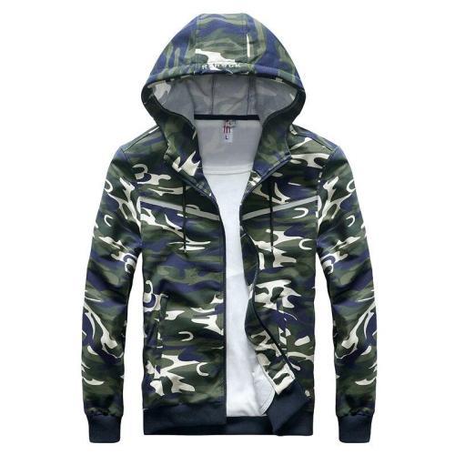 Mens Baggy Military Jacket Casual Windbreakers Male Hood Camo Reflective Jacket Sportswear for Men