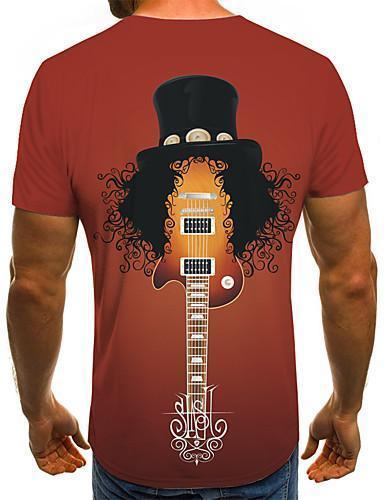 Men Street Chic Color Block 3D Print T shirt