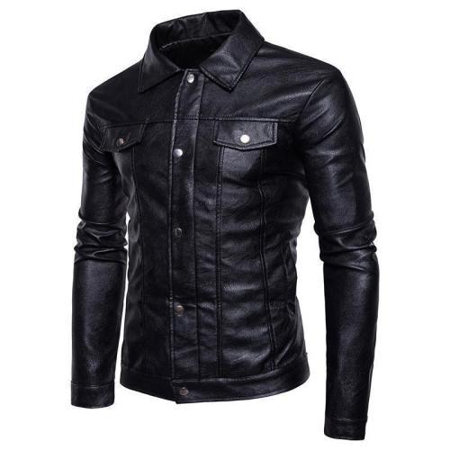 Fashion Lapel Slim Fit Plain Packet Jacket