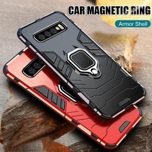 Car Magnetic Ring Armor Case For Samsung