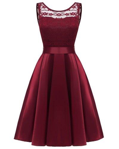 fashion Elegant Wedding Party evening dress Sexy lace formal dress satin Sleeveless evening gown dinner dresses abendkleider