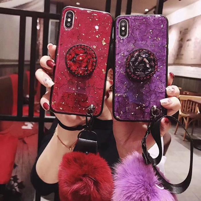 Diamond Crystal Kickstand Phone Case For iPhone
