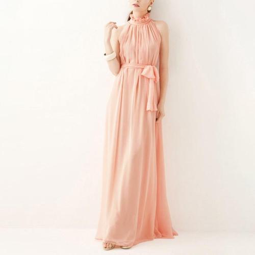 Maternity Chiffon Plain Ankle-Length Formal Casual Dress