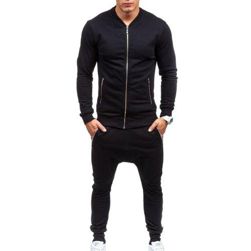 Fashion Casual Slim Coat Pants Sport Suit