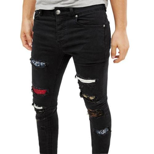 Solid Zipper Casual Pocket Jeans
