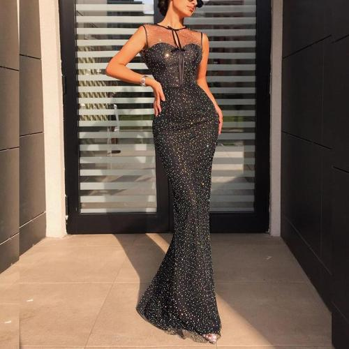Sexy Sleeveless Mesh Fishtail Dress