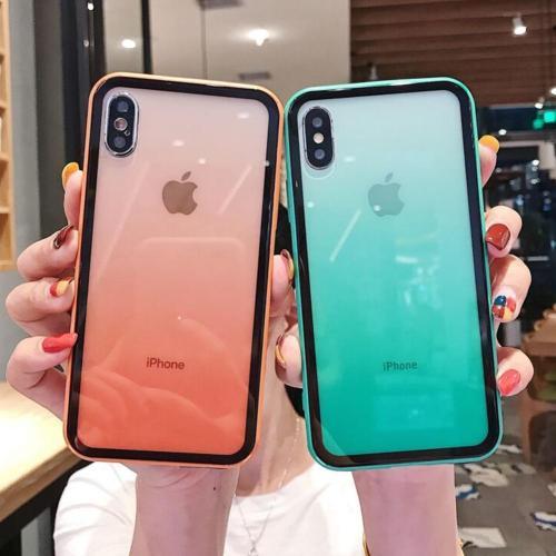 Luxury Gradient Acrylic Phone Case For iPhone