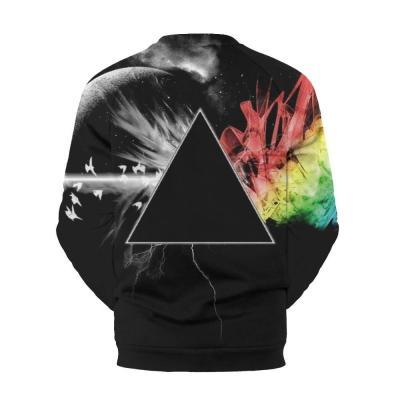 Men's Star Digital Printed Round Collar Sweater