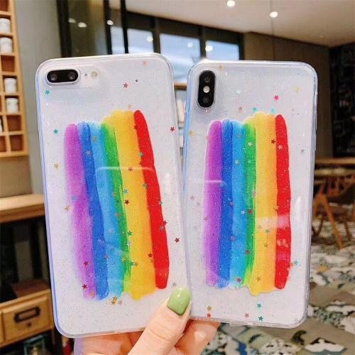 Luxury Bling Rainbow Phone Case For iPhone X XS Max XR