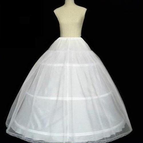 Solid Color Rigid Mesh Lining Elastic Waist Skirt